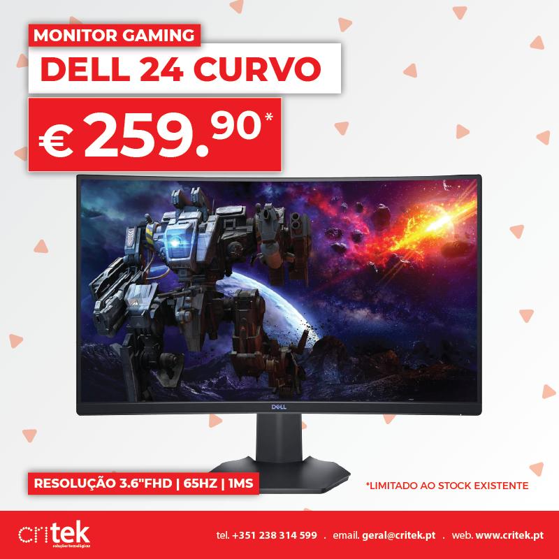 Monitor Gaming Dell 24 Curvo